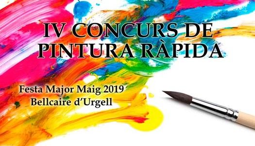 BASES I CONVOCATÒRIA DEL IV CONCURS DE PINTURA RÀPIDA DE BELLCAIRE D'URGELL