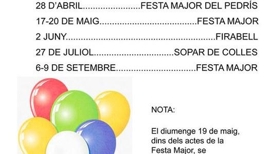 Programa de festes 2019 a Bellcaire d'Urgell